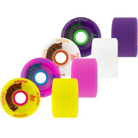 Longboard kolečka REMEMBER Hoot 70mm Velikost: 80a purple