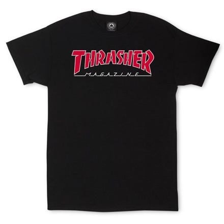 Tričko THRASHER Outlined black Velikost: M