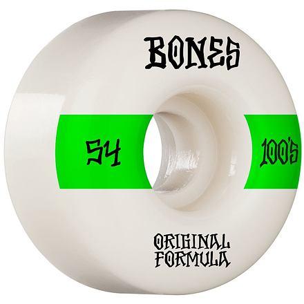 Skate kolečka BONES 100´s 54mm OG V4 WIDE white