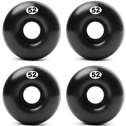 Skate kolečka FORM Solid Black 52mm 99a