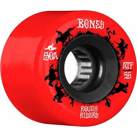 Kolečka BONES ATF Rough Riders Wranglers 56mm red, 80a