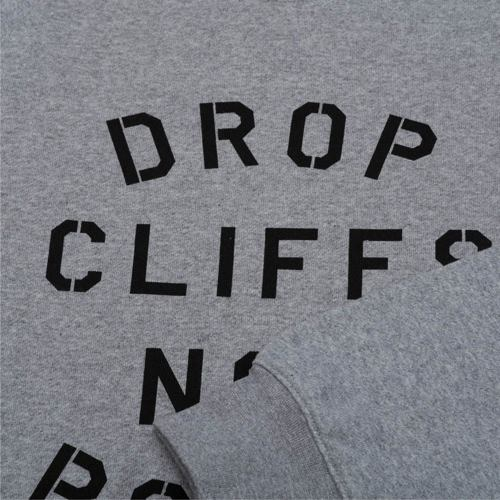 mikina PLANKS drop Cliffs Stencil Crew grey