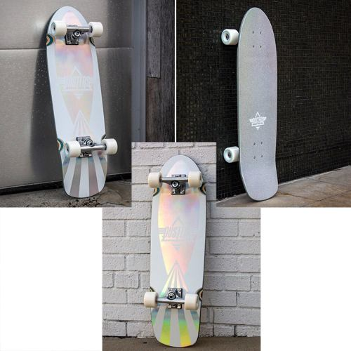 """skate cruiser DUSTERS Cazh Cosmic 29.5"""" holographic"""