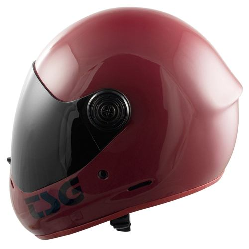 Integrální downhill helma TSG Pass gloss oxblood