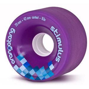 Longboard kolečka ORANGATANG Stimulus 70mm 86a fialová