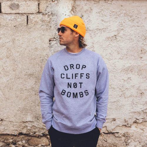 Mikina PLANKS Drop Cliffs Crew grey