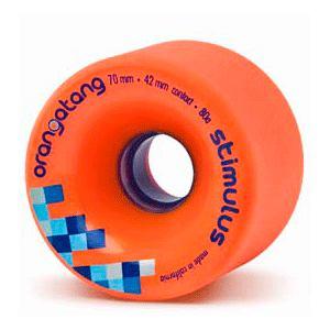 Longboard kolečka ORANGATANG Stimulus 70mm 86a oranžová